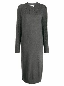 See By Chloé knitted midi dress - Grey