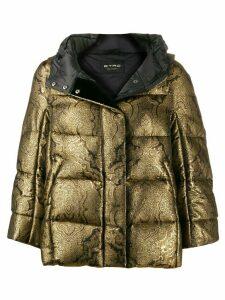 Etro Paisley padded hooded jacket - Gold