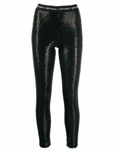 Marcelo Burlon County Of Milan sequin leggings - Black