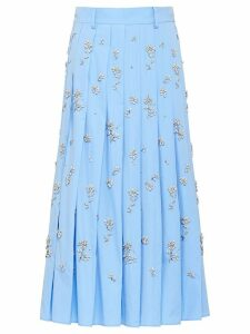 Prada floral embellished skirt - Blue