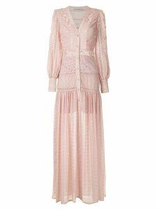 Martha Medeiros long shirt dress - Pink