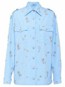 Prada floral embellished shirt - Blue