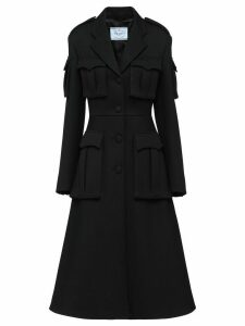 Prada Natté gabardine coat - Black