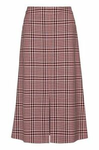 Regular-fit A-line skirt with colourful check