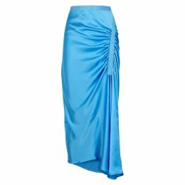Christopher Esber Incline Blue Silk Midi Skirt