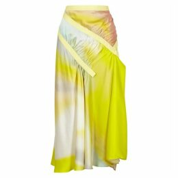 Christopher Esber Incline Printed Silk Midi Skirt