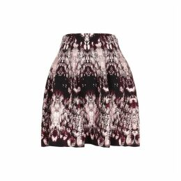 Alexander McQueen Crystal-jacquard Stretch-knit Mini Skirt