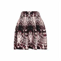 Alexander McQueen Crystal-jacquard Stretch-knit Mini Skirt