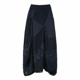 HIGH Concept Panelled Satin Midi Skirt