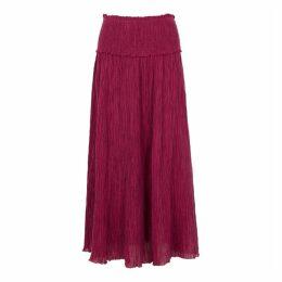 Zimmermann Suraya Raspberry Plissé Skirt