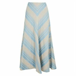 Lee Mathews Tilda Striped Linen-blend Skirt
