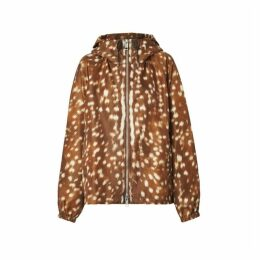 Burberry Deer Print Nylon Hooded Jacket