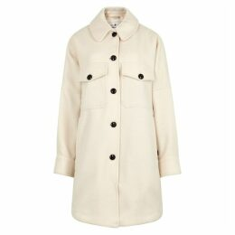 Woolrich Chamois Off-white Wool-blend Jacket