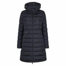 Moncler Flammette Navy Quilted Shell Jacket