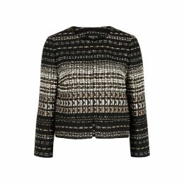 Paule Ka Textured Metallic-weave Bouclé-knit Jacket