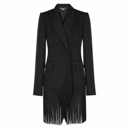 Stella McCartney Black Fringed Wool Blazer