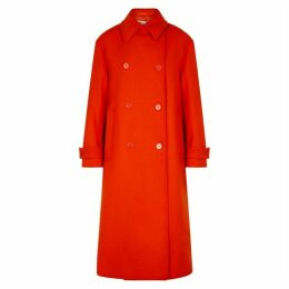 Stella McCartney Red Double-breasted Wool Coat