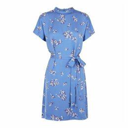 Samsøe & Samsøe Blumea Blue Floral-print Dress