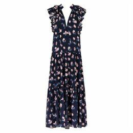 LUG VON SIGA Frida Floral-print Ruffled Midi Dress
