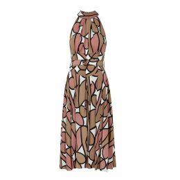 Diane Von Furstenberg Nicola Printed Silk Dress