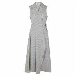 Diane Von Furstenberg Charleigh Stripe-jacquard Wrap Dress