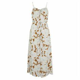 Vince Floral-print Midi Dress