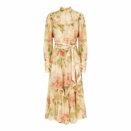 Zimmermann Espionage Floral-print Silk Midi Dress