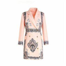 Comino Couture Peach Blazer Dress