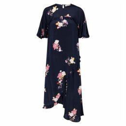 Preen Line Peni Navy Floral-print Midi Dress