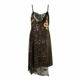 Preen By Thornton Bregazzi Panelled Printed Satin Dress