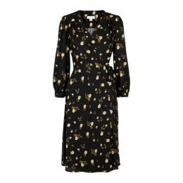 Velvet By Graham & Spencer Nadia Floral-print Wrap Midi Dress
