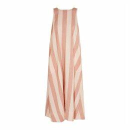 Lee Mathews Sufi Striped Linen-blend Dress