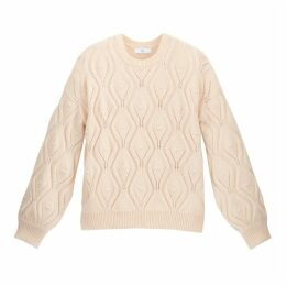Crew-Neck Jumper in Chunky Pointelle Knit