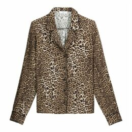 Leopard Print Shirt with Long Sleeves