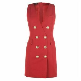 Balmain Sleeveless Button Dress