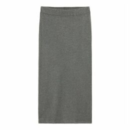Cotton Mid-Length Bodycon Tube Skirt