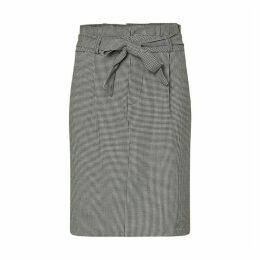 Straight Tie Waist Skirt