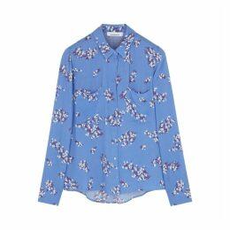 Samsøe & Samsøe Milly Blue Floral-print Blouse
