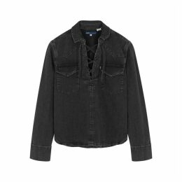 Levi's Made & Crafted Black Lace-up Denim Top