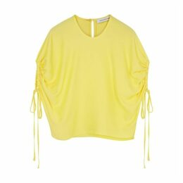 Christopher Esber Yellow Ruched T-shirt
