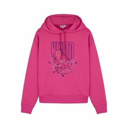 Kenzo Pink Embroidered Cotton-blend Sweatshirt