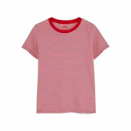 MADS NORGAARD Trimmy Striped Cotton T-shirt