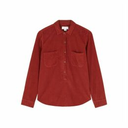 Velvet By Graham & Spencer Arielle Red Corduroy Shirt