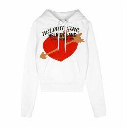 Helmut Lang White Printed Cotton-jersey Sweatshirt