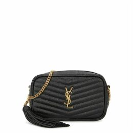 Saint Laurent Lou Mini Black Leather Cross-body Bag