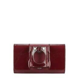 PERRIN PARIS Le Rond Burgundy Leather Clutch