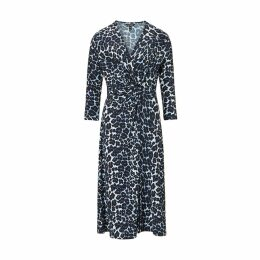 Baukjen - Ophelia Dress In Blue Leopard Print