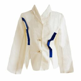 esfera. - Sustainable Blazer With Royal Blue Details