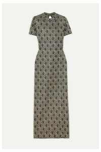 Paco Rabanne - Metallic Jacquard-knit Maxi Dress - Gold