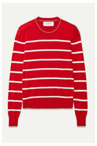 La Ligne - Neat Striped Cotton Sweater - Red